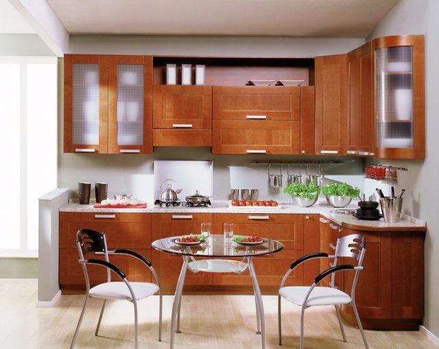 Простой дизайн обычной кухни