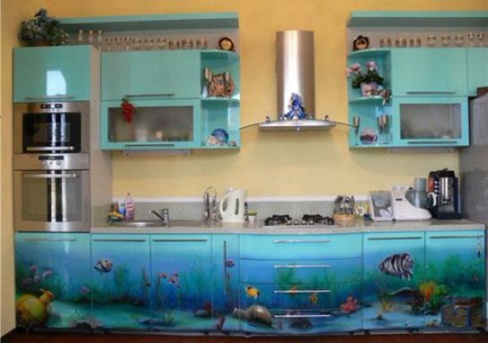 Оформляем кухню в морском стиле