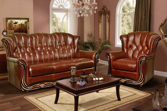 Кожаная мебель в квартире