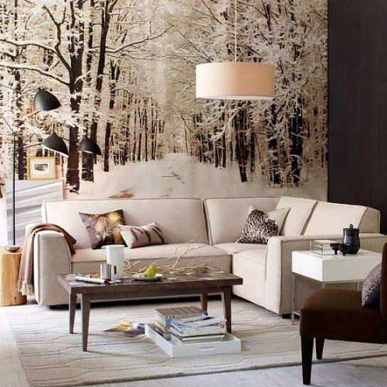Украшаем комнату зимним декором
