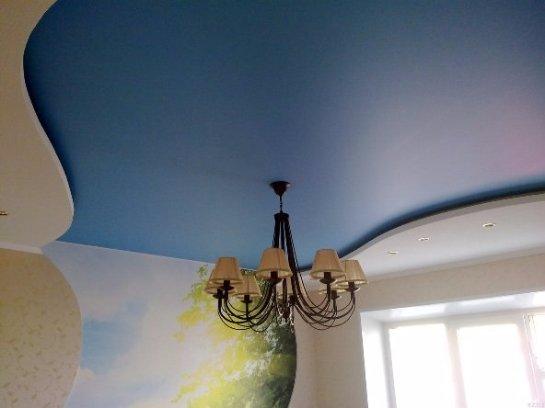Натяжные потолки из сатина
