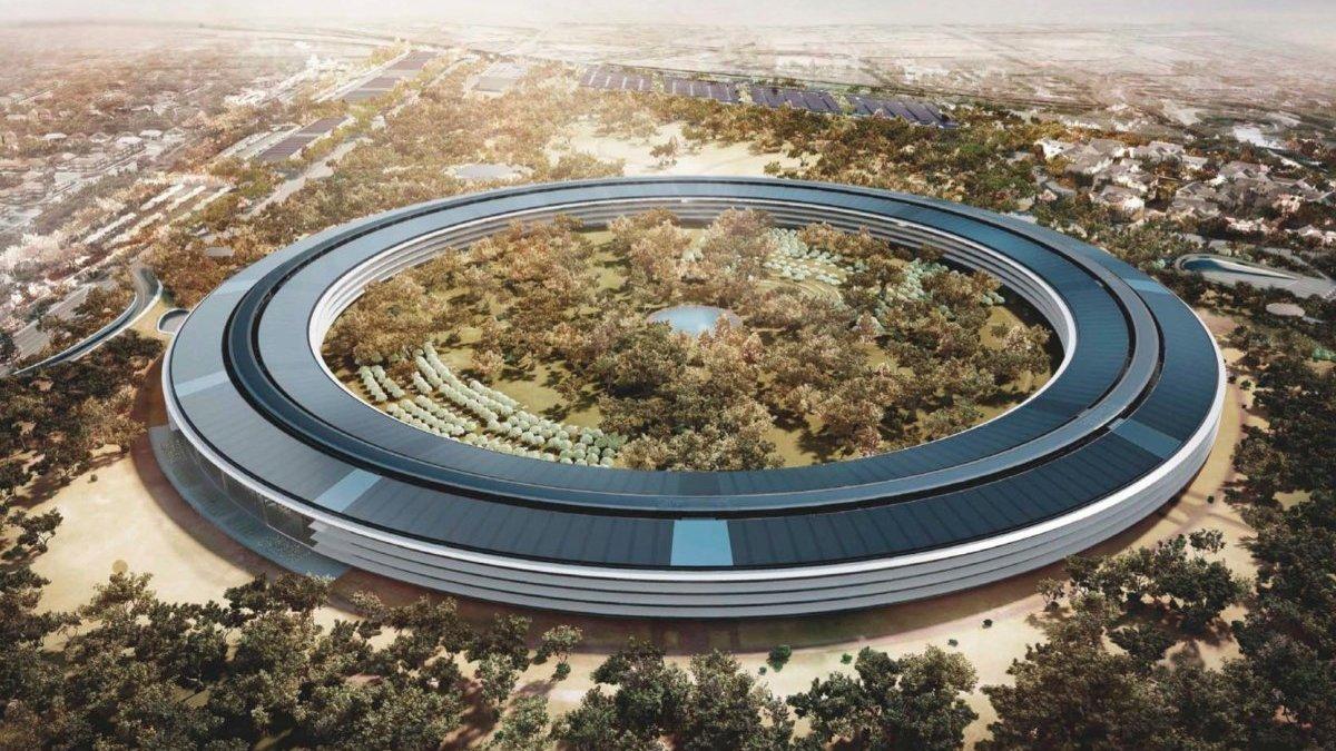 Как выглядит Apple Park за месяц до открытия
