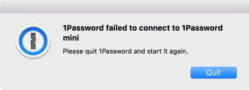Что делать, если перестал работать 1Password на Mac