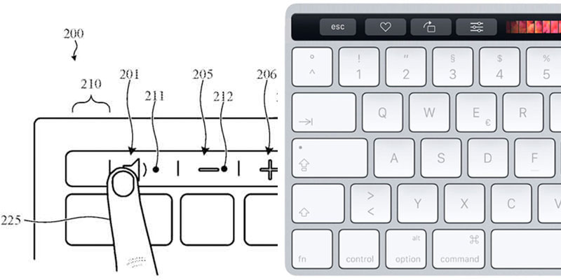 Apple запатентовалаTouch Bar для внешней клавиатуры