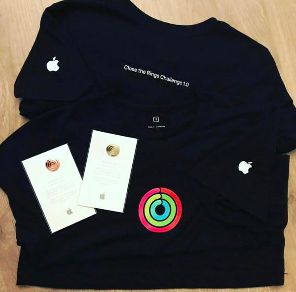 Apple дарит футболки и медали «замкнувшим кольца» сотрудникам