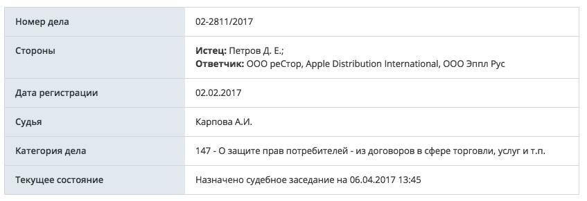Россиянин пока не смог победить Apple в суде