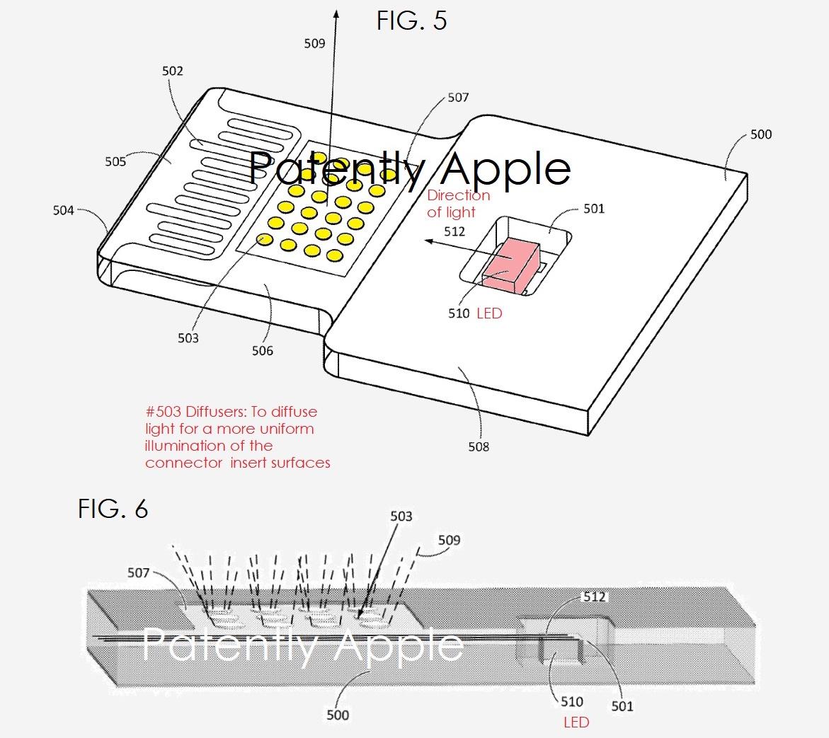 Apple запатентовала светящийся Lightning