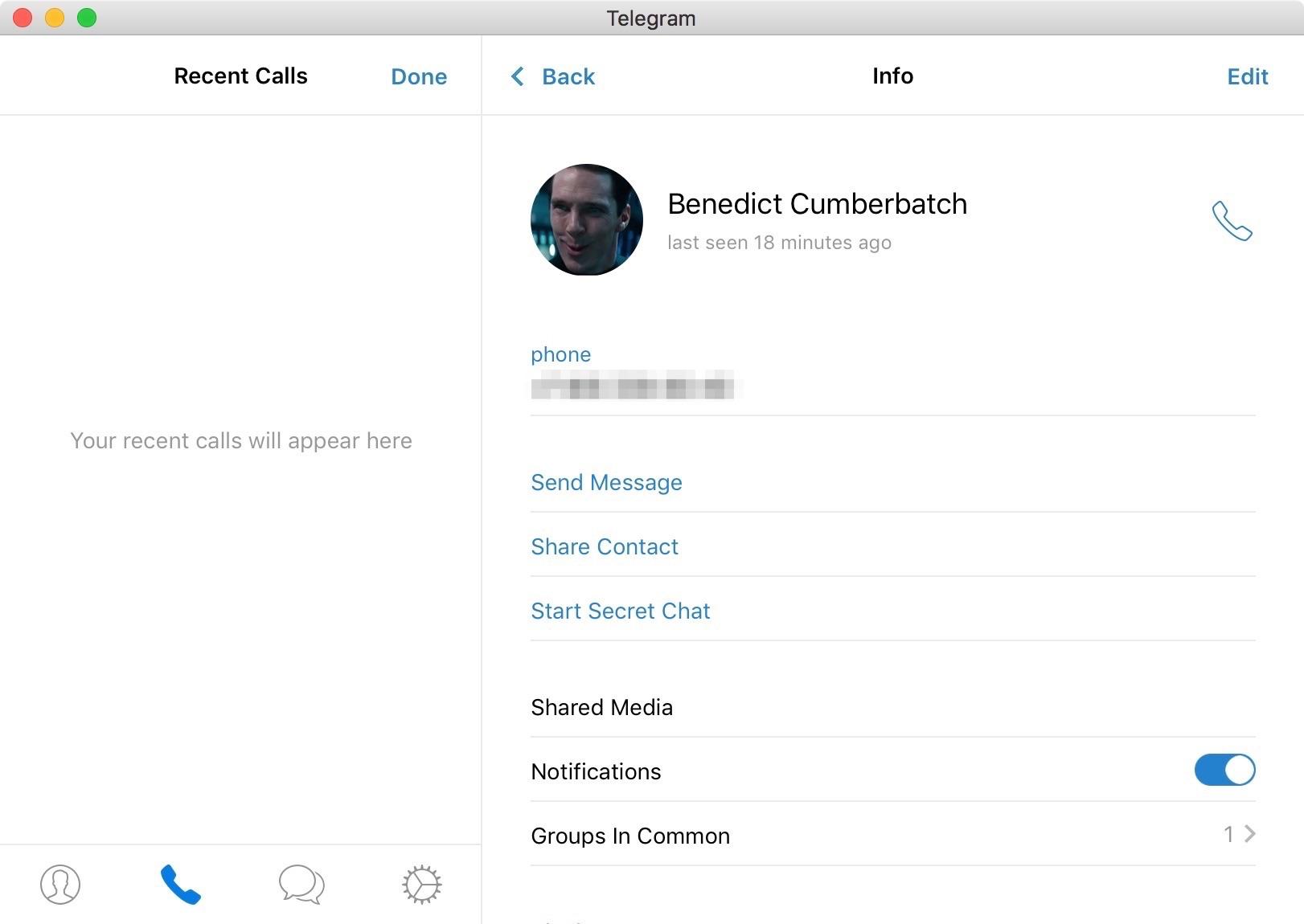 В Telegram для Mac официально появились звонки