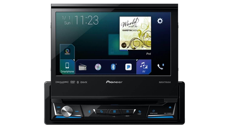 Pioneer представила новые магнитолы с CarPlay, включая 1-DIN 7-дюймовую магнитолу