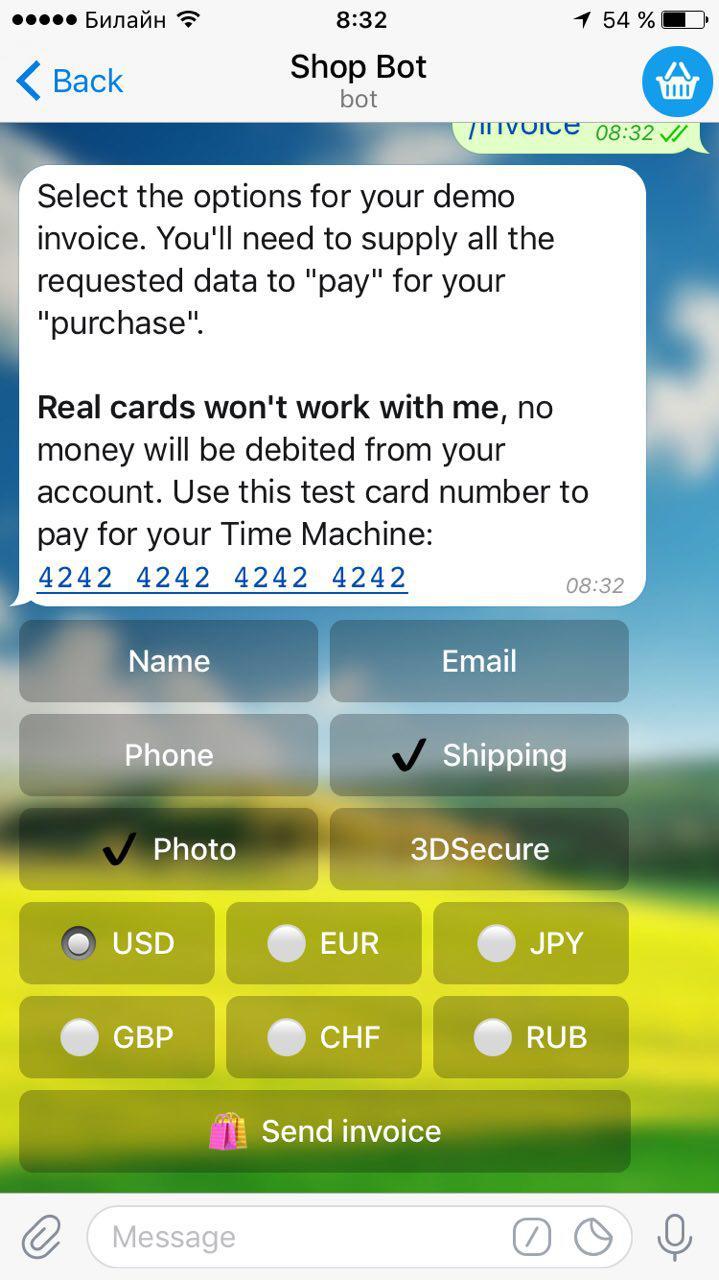 В Telegram появилась платежная система, видеосообщения и многое другое