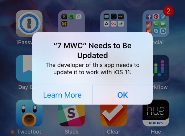 Apple прекратила поддержку 32-битных приложений в iOS 11