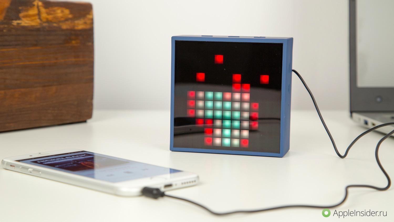 #Видео: Divoom TimeBox mini — музыка в формате 11 х 11 пикселей