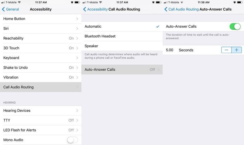 В iOS 11 появился режим автоответов на входящие звонки