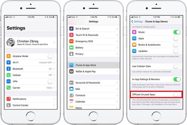 iOS 11 сможет удалять неиспользуемые приложения