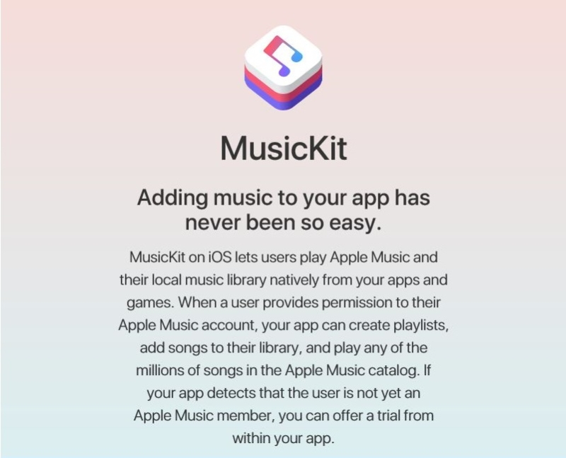 Apple позволит использовать Apple Music в сторонних приложениях