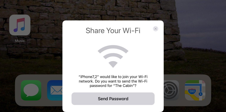 iOS 11 позволяет поделиться подключением к Wi-Fi с другом