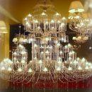Многоярусные люстры, украшенные хрусталем, для гостиницы