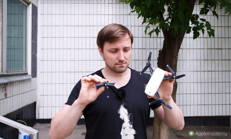 #Видео: DJI Spark — iPhone SE среди квадрокоптеров