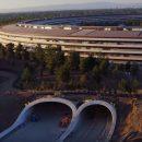 Новый кампус Apple меняется прямо на глазах