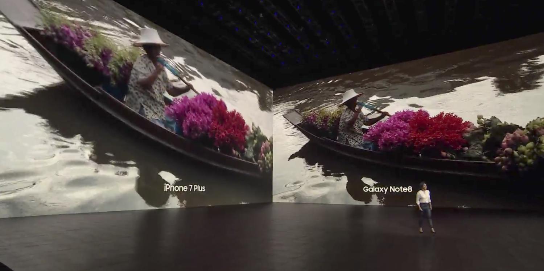 Samsung рассказала о превосходстве Galaxy Note 8 над iPhone 7 Plus