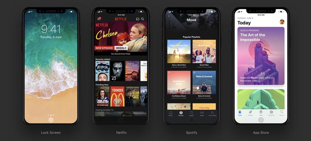 Как могут выглядеть приложения с iOS 11 и новым iPhone